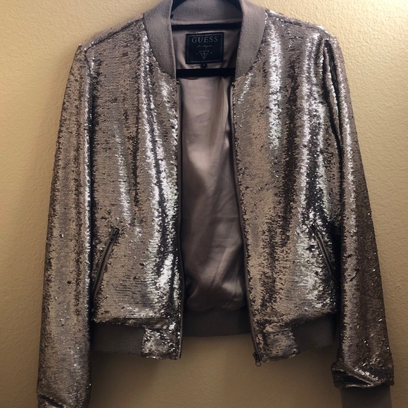 Guess Jackets & Blazers - Guess sequins jacket size M